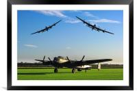 Three Lancaster Bombers, Framed Mounted Print