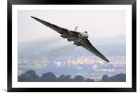 The Avro Vulcan flight at Dawlish 2015, Framed Mounted Print