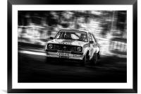 Ford Escort Mk2 tempest rally, Framed Mounted Print