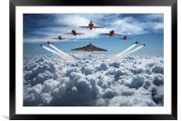 Vulcan and Red Arrows farewell flight, Framed Mounted Print