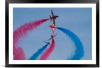 Red  Arrows break a different perspective, Framed Mounted Print