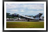 Vulcan landing at RIAT, Framed Mounted Print