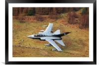 Tornado GR4 056 low level in wales, Framed Mounted Print