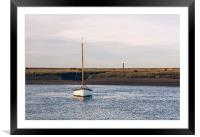 Boat and marshes. Burnham Overy Staithe., Framed Mounted Print