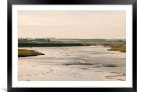 Overy Marsh. Burnham Overy Staithe., Framed Mounted Print