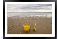 Bucket and Spade, Framed Mounted Print