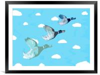 Nice Weather For Ducks, Framed Mounted Print