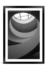 Liverpool staircase B&W, Framed Mounted Print