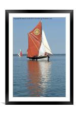 Thames Barge Cambria, Framed Mounted Print