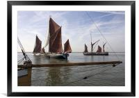 Maldon Barge Match 2010, Framed Mounted Print