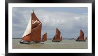 Maldon Barge Match 2011, Framed Mounted Print