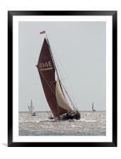 Thames Barge Edme, Framed Mounted Print
