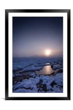 Winters Sunset, Framed Mounted Print