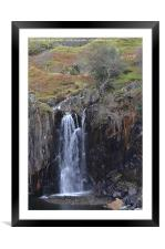 4. Walna Scar Waterfall, Framed Mounted Print