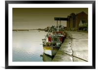 Boats in the Quay, Framed Mounted Print