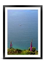 Fishing in Lynmouth Bay , Framed Mounted Print