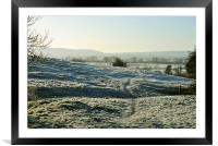 A Chilly Morning in the Chilterns , Framed Mounted Print