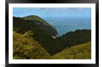 Lynmouth , Framed Mounted Print