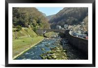 The East Lyn River at Lynmouth, Framed Mounted Print
