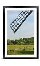 Ivinghoe village,Buckinghamshire from Pitstone Mil, Framed Mounted Print