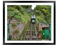 The Lynton and Lynmouth Cliff Railway, Framed Mounted Print