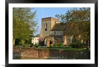The Church of St Lawrence the Martyr, Abbots Langl, Framed Mounted Print