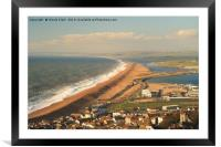 Large Waves Along Chesil Beach, Framed Mounted Print