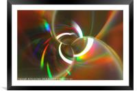 CD In A Spin, Framed Mounted Print