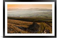 North Cumbrian Mountains, Framed Mounted Print