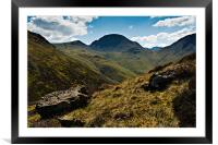 Sty Head & Great Gable, Cumbria, Framed Mounted Print