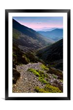 Newlands Valley, Cumbria., Framed Mounted Print