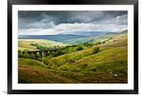 Dent Head Viaduct - North Yorkshire Dales, Framed Mounted Print