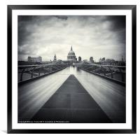 Millennium Bridge, London, Framed Mounted Print