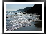 Sparkle Cove.Lydstep,Tenby.Wales., Framed Mounted Print