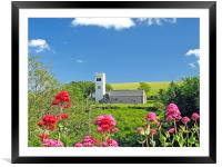 St James Church, Manorbier,Tenby., Framed Mounted Print