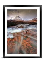 Towards the Buachaille..., Framed Mounted Print