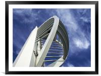 Spinnaker Tower - Close side view, Framed Mounted Print
