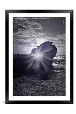 Alone, Framed Mounted Print