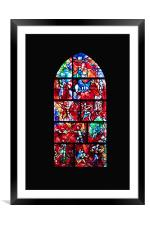 Stained Glass, Framed Mounted Print