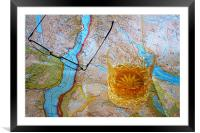 Map Reading, Framed Mounted Print