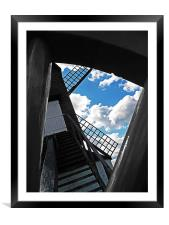 Pitstone Windmill Through Wheel, Framed Mounted Print
