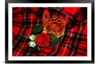 Glass of whisky, Framed Mounted Print