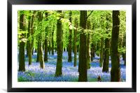 Blue and Green, Framed Mounted Print