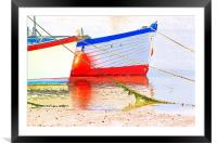 Low Tide, Framed Mounted Print