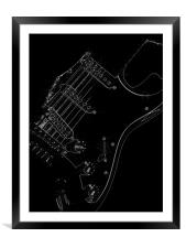 Guitar, Framed Mounted Print