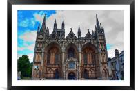 Peterborough Cathedral, Framed Mounted Print