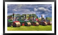 Steam Road Rollers, Framed Mounted Print