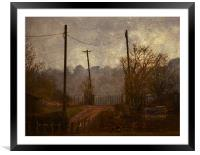 Down the lane, Framed Mounted Print