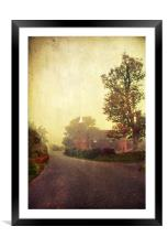 Along the country lanes of Kent, Framed Mounted Print