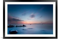 2 Minutes on the beach, Framed Mounted Print